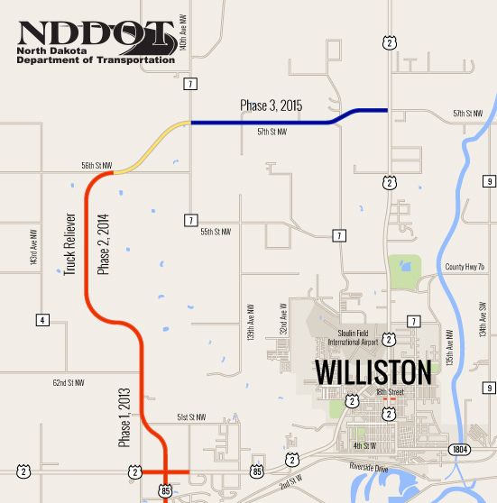 Williston Truck Reliever Route NDDOT Williston